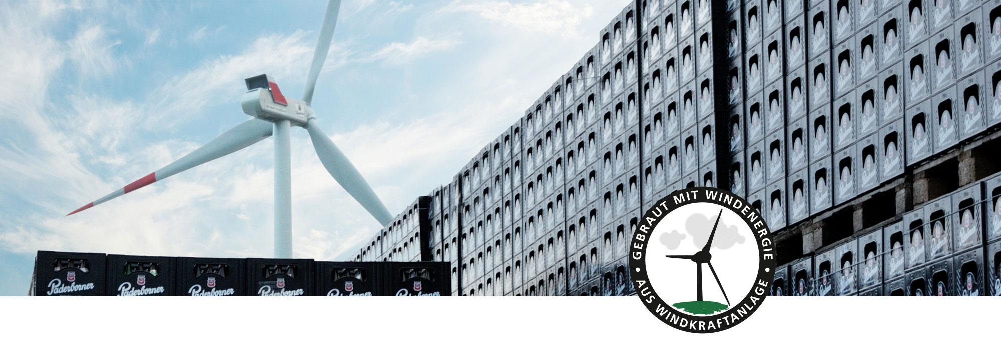 Paderborner Brauerei Nachhaltigkeit Windrad