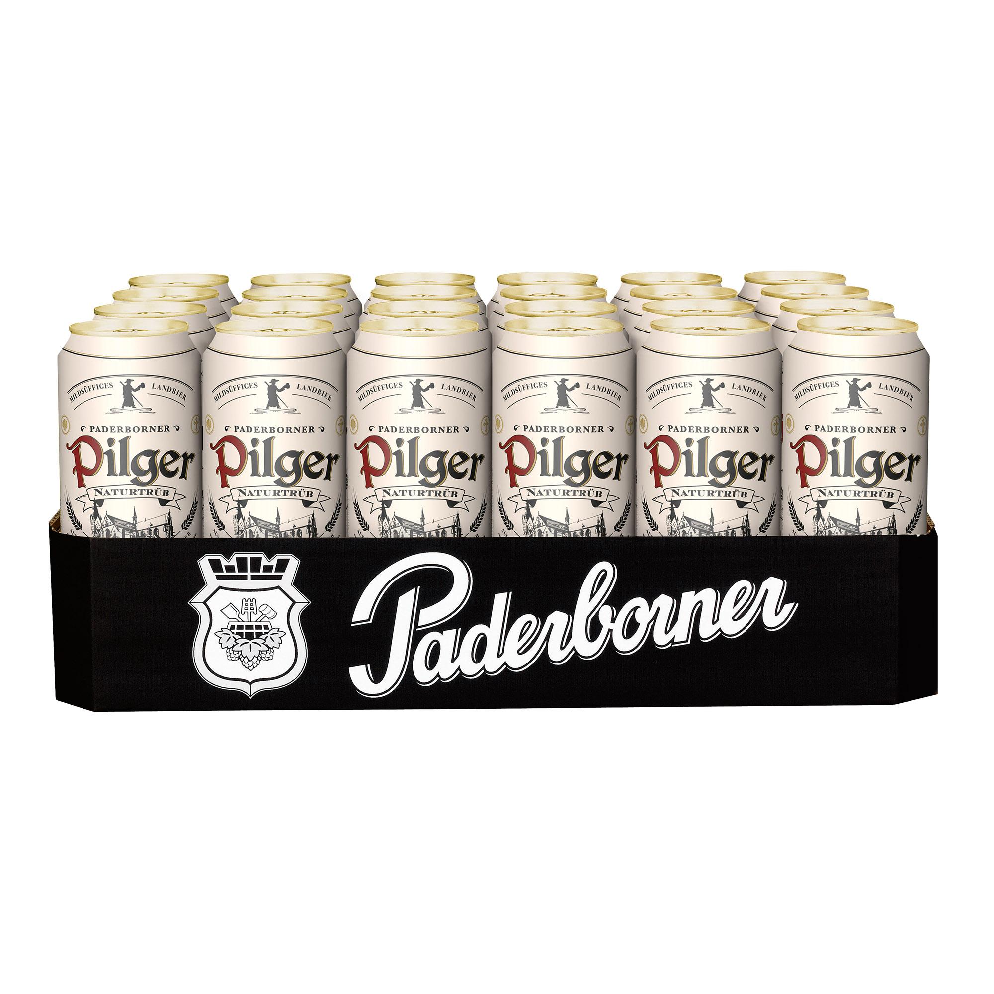 Produktabbildung Paderborner Pilger Landbier Dosentray 24 x 0,5 l