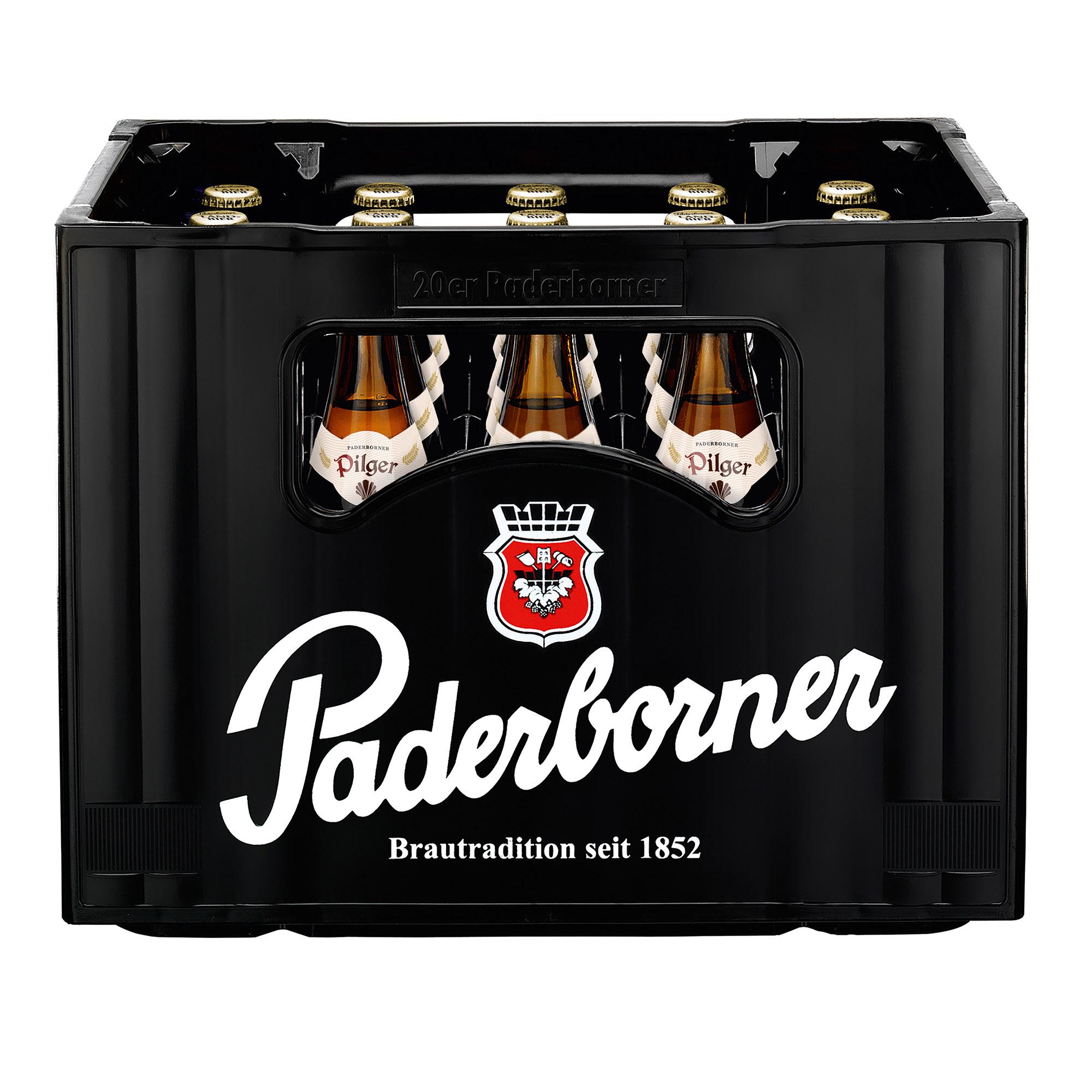 Produktabbildung Paderborner Pilger Landbier Kasten 20 x 0,5 l frontal