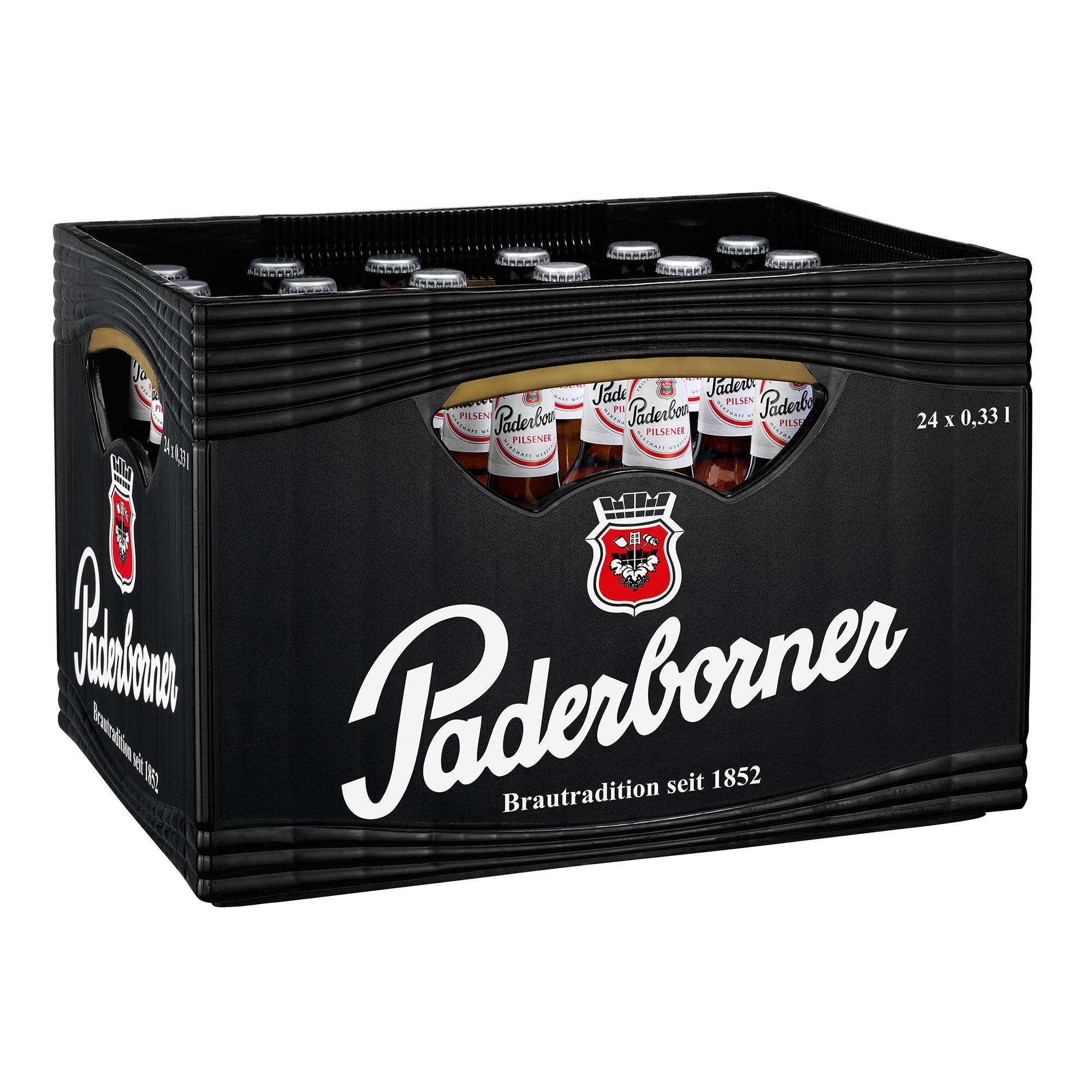 Produktabbildung Paderborner Pilsener Kasten 24 x 0,33 l