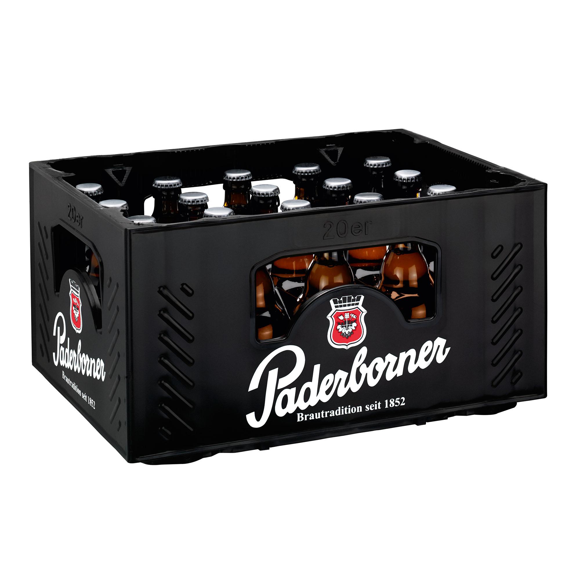 Produktabbildung Paderborner Pilsener Steinie Kasten 20 x 0,33 l