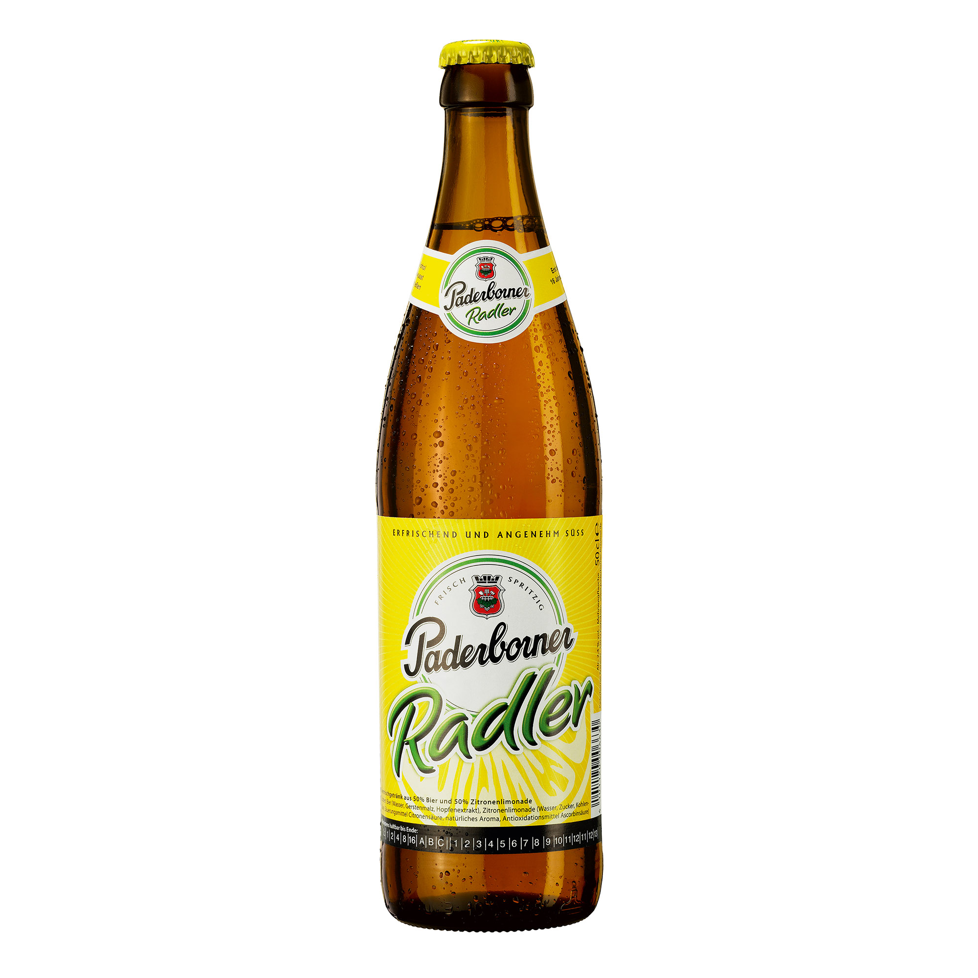 Produktabbildung Paderborner Radler Flasche 0,5 l