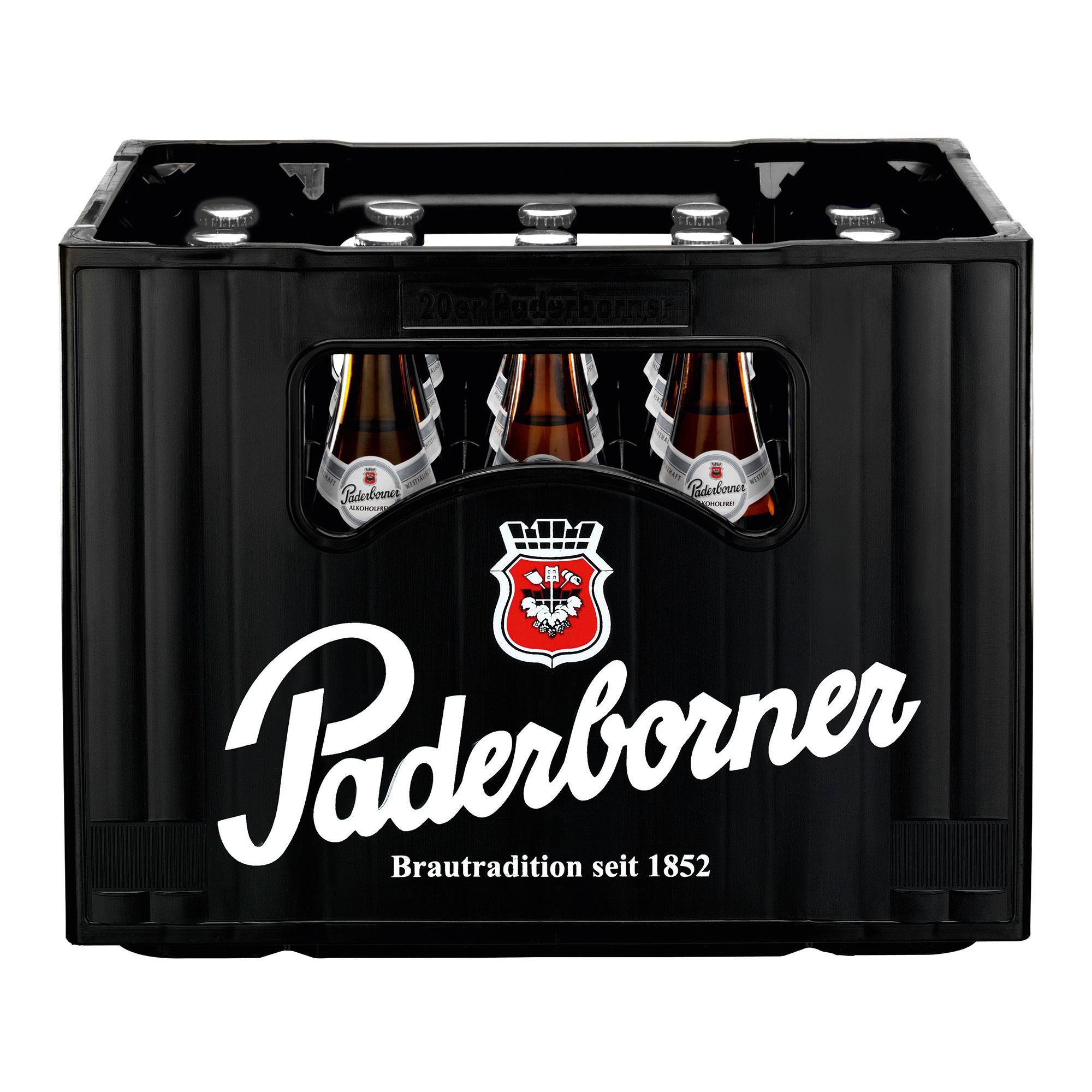 Produktabbildung Paderborner Alkoholfrei Kasten 20 x 0,5 l