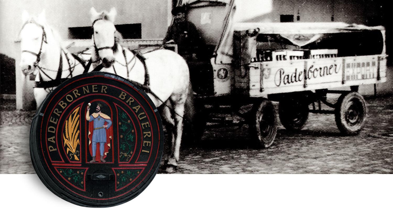 Paderborner Brauerei Brautradition Fass Schnitzerei Kutsche