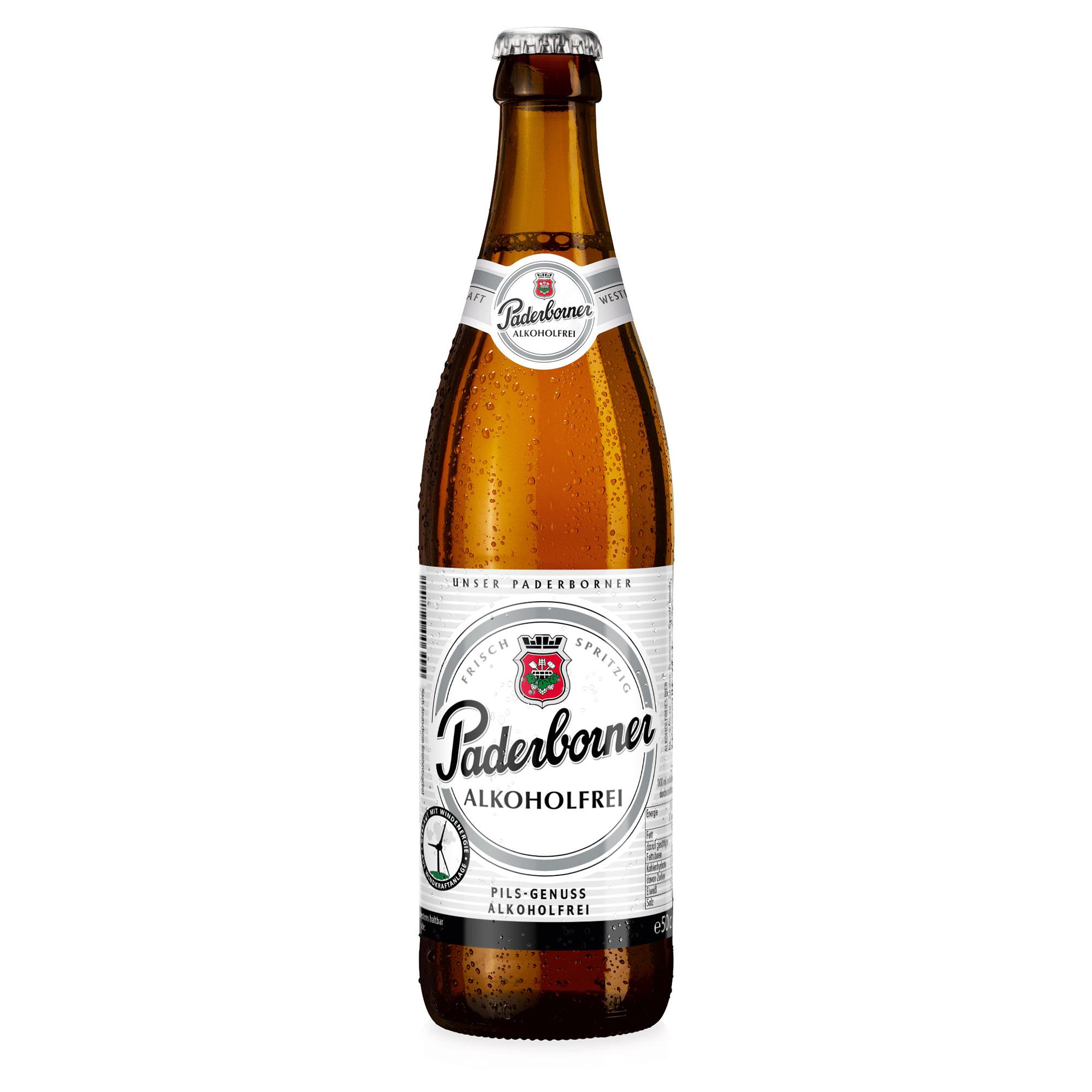 Produktabbildung Paderborner Alkoholfrei Flasche 0,5 l