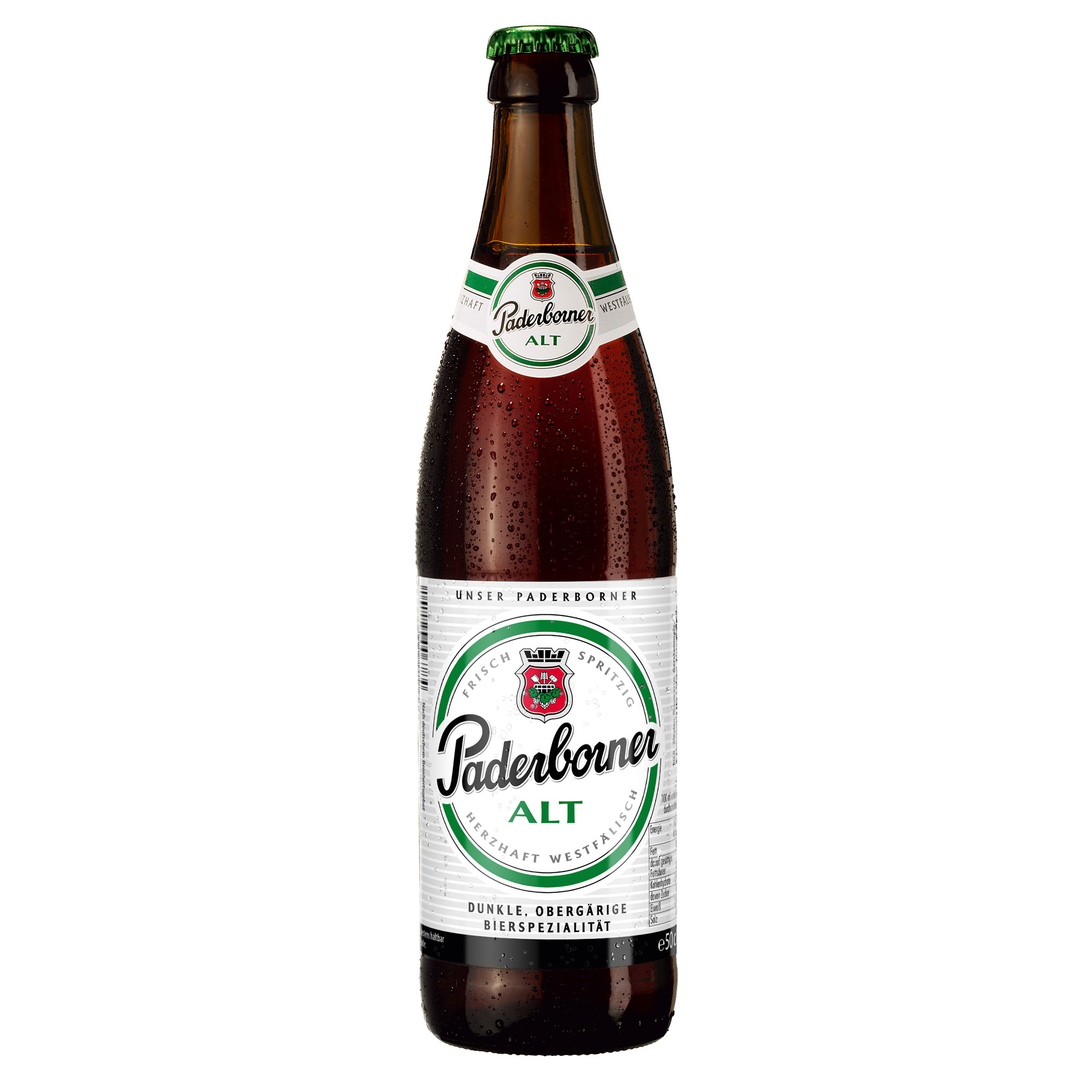 Produktabbildung Paderborner Alt Flasche 0,5 l
