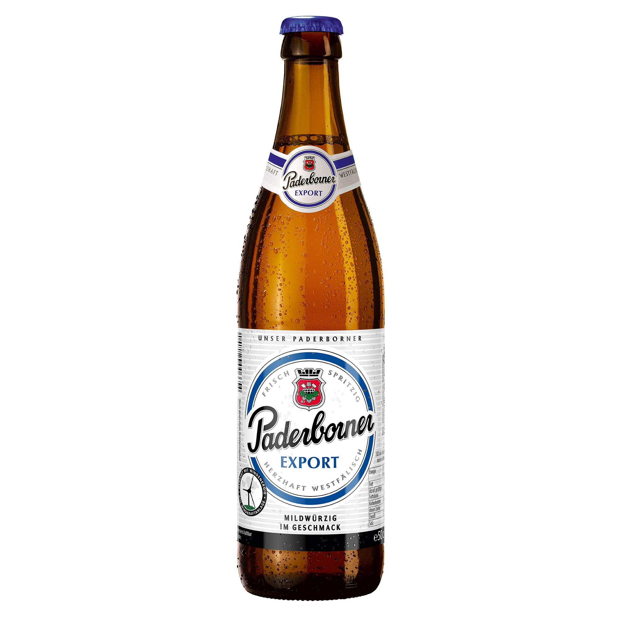 Produktabbildung Paderborner Export Flasche 0,5 l