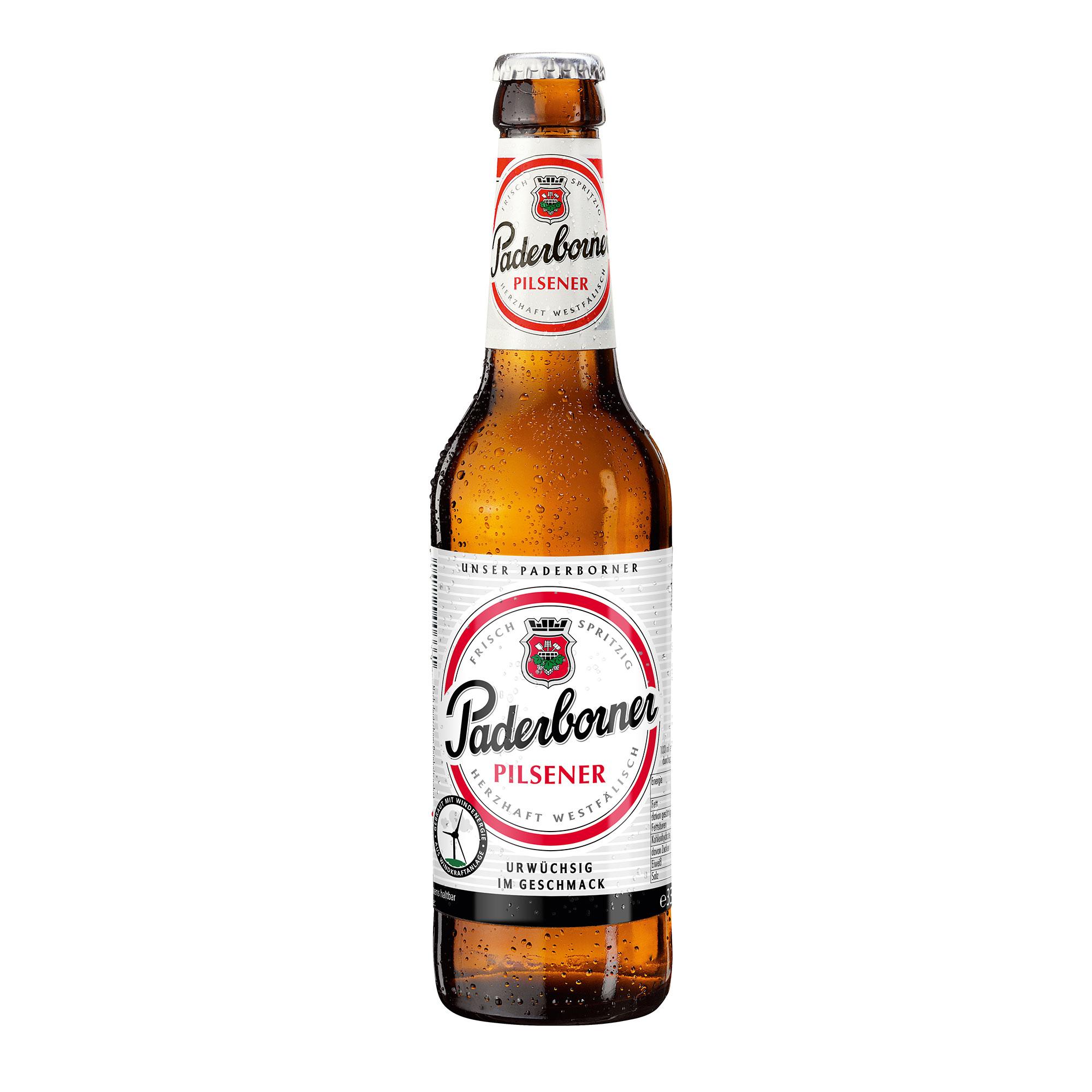 Produktabbildung Paderborner Pilsener Flasche 0,33 l
