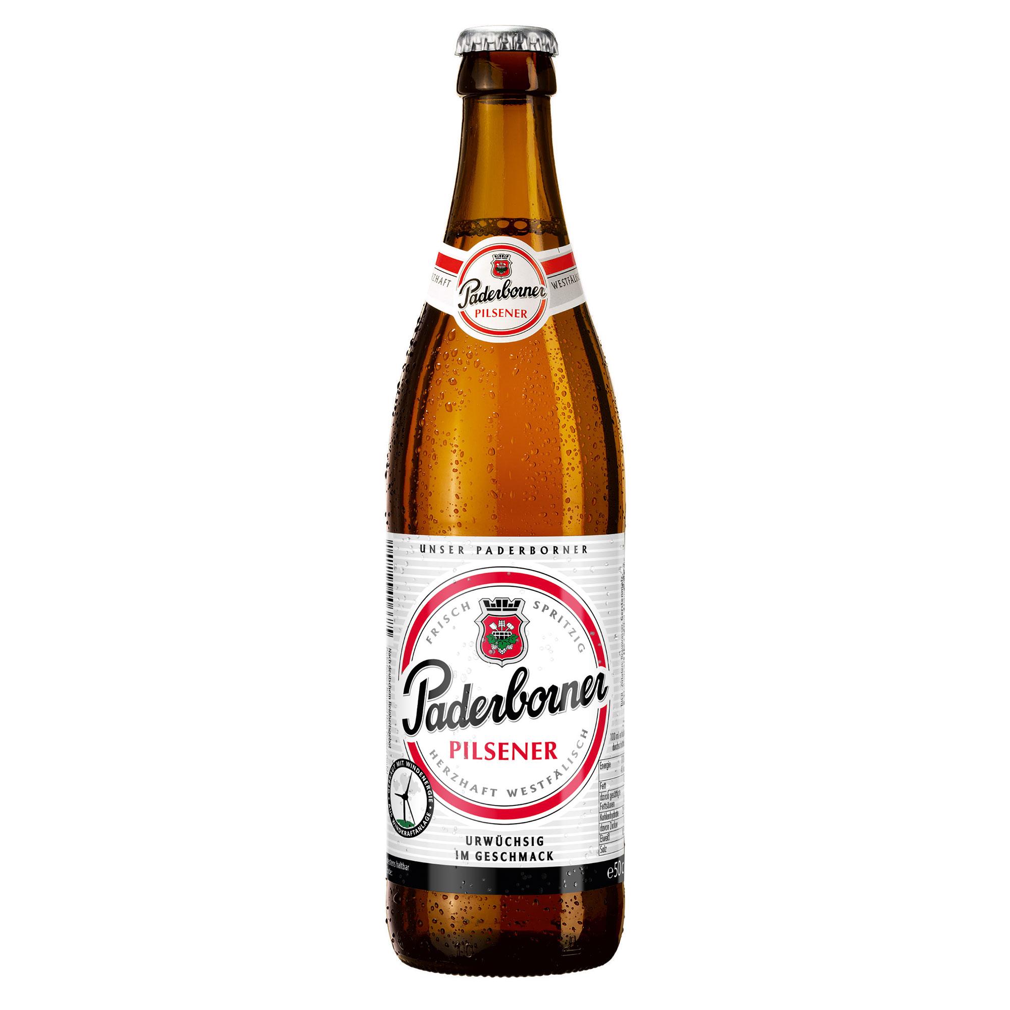Produktabbildung Paderborner Pilsener Flasche 0,5 l