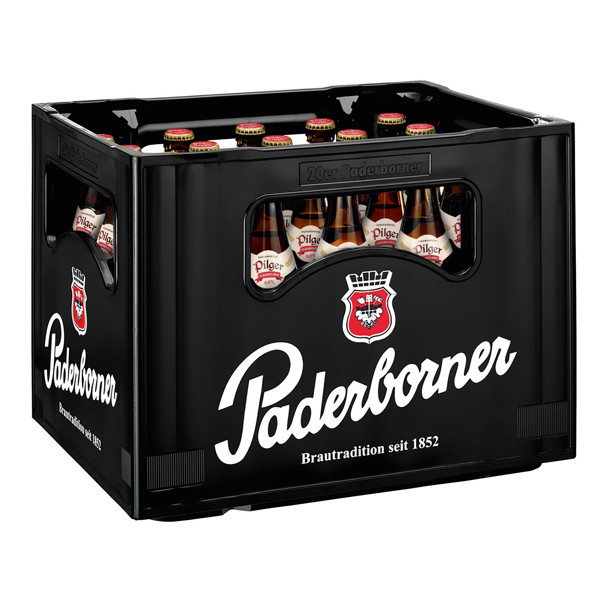 Produktabbildung Paderborner Pilger Alkoholfrei Kasten 20 x 0,5 l